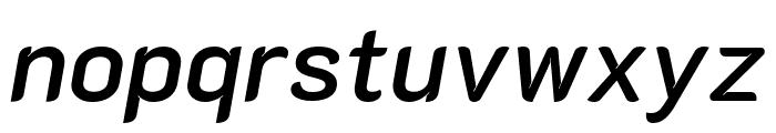 K2D SemiBold Italic Font LOWERCASE