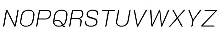 K2D Thin Italic Font UPPERCASE