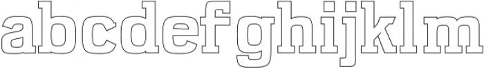 Kaayla ExtraBold Outline otf (700) Font LOWERCASE