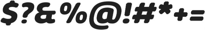 Kabrio Abarth ExtraBold Italic otf (700) Font OTHER CHARS