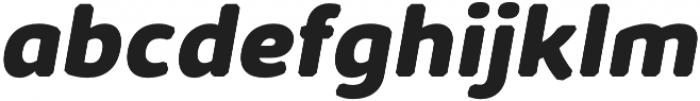 Kabrio Abarth ExtraBold Italic otf (700) Font LOWERCASE