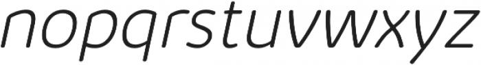 Kabrio Abarth ExtraLight Italic otf (200) Font LOWERCASE