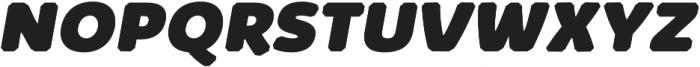 Kabrio Abarth Heavy Italic otf (800) Font UPPERCASE