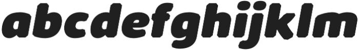 Kabrio Abarth Heavy Italic otf (800) Font LOWERCASE