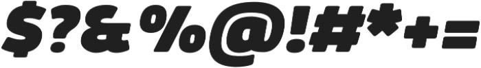 Kabrio Alternate Heavy Italic otf (800) Font OTHER CHARS
