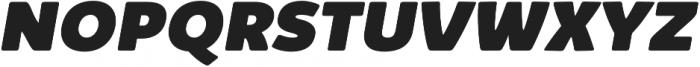 Kabrio Alternate Heavy Italic otf (800) Font UPPERCASE
