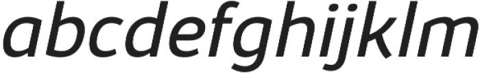 Kabrio Book Italic otf (400) Font LOWERCASE