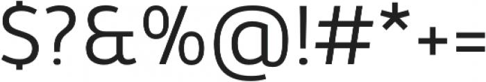 Kabrio Light otf (300) Font OTHER CHARS