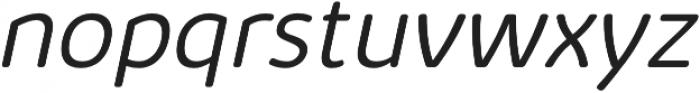 Kabrio Soft Light Italic otf (300) Font LOWERCASE
