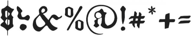 Kachelofen otf (300) Font OTHER CHARS