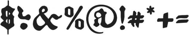 Kachelofen otf (400) Font OTHER CHARS