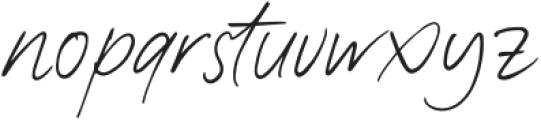 Kaeliwritten-Regular otf (400) Font LOWERCASE