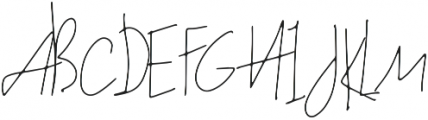 Kahendra otf (400) Font UPPERCASE