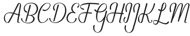 Kahitna Regular otf (400) Font UPPERCASE