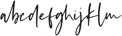Kaileigh otf (400) Font LOWERCASE