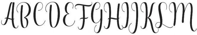 Kaitlyn  otf (400) Font UPPERCASE