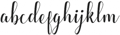 Kaitlyn  otf (400) Font LOWERCASE
