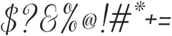Kaiyila Slant Regular otf (400) Font OTHER CHARS