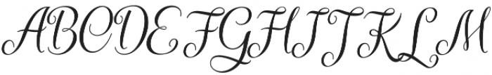 Kaiyila Slant Regular otf (400) Font UPPERCASE