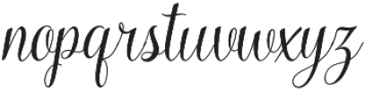 Kaiyila Slant Regular otf (400) Font LOWERCASE