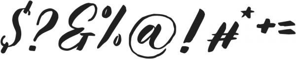 KalimatScript otf (400) Font OTHER CHARS