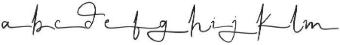 KalisaAlt01 otf (400) Font LOWERCASE