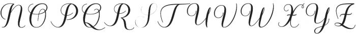 Kalisha Script Bold Regular otf (700) Font UPPERCASE