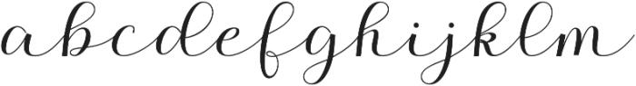 Kalisha Script Bold Regular otf (700) Font LOWERCASE