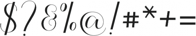Kalisha Script Regular otf (400) Font OTHER CHARS