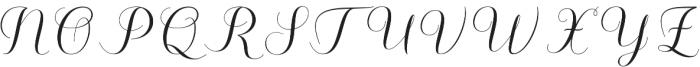 Kalisha Script Regular otf (400) Font UPPERCASE