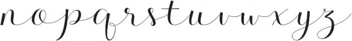 Kalisha Script Regular otf (400) Font LOWERCASE