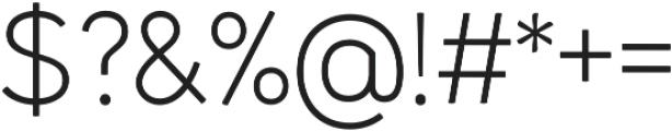 Kamber Thin otf (100) Font OTHER CHARS