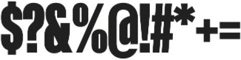 Kaneda Gothic Black otf (900) Font OTHER CHARS