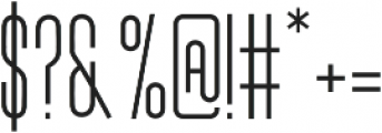 Kangaroo Regular otf (400) Font OTHER CHARS