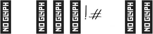 Kangary otf (400) Font OTHER CHARS