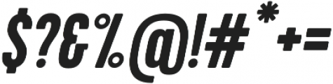 Kapra Bold Italic otf (700) Font OTHER CHARS
