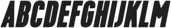 Kapra ExtraBold Italic otf (700) Font UPPERCASE