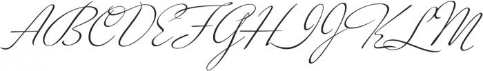 Kapture Regular otf (400) Font UPPERCASE