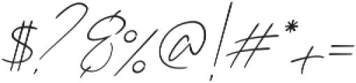Karimun Jawa Italic otf (400) Font OTHER CHARS