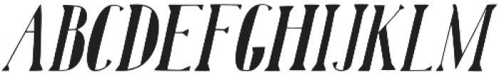 Karl Black Oblique otf (900) Font UPPERCASE