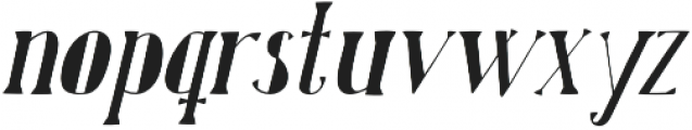 Karl Black Oblique otf (900) Font LOWERCASE