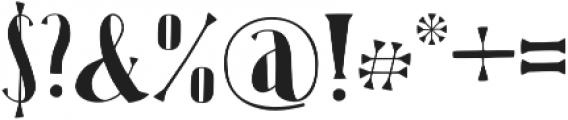 Karl Black otf (900) Font OTHER CHARS