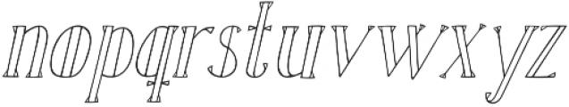 Karl White Oblique otf (400) Font LOWERCASE