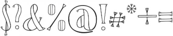 Karl White otf (400) Font OTHER CHARS