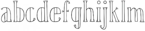 Karl White otf (400) Font LOWERCASE