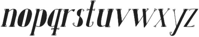 Karl Whitefoot Oblique otf (400) Font LOWERCASE
