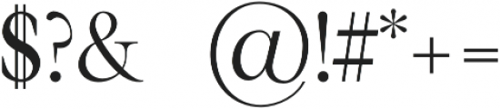 Karma Semi-bold otf (600) Font OTHER CHARS