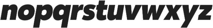 Karu ExtraBold Italic otf (700) Font LOWERCASE