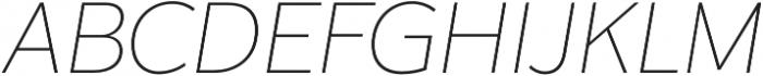Karu ExtraLight Italic otf (200) Font UPPERCASE