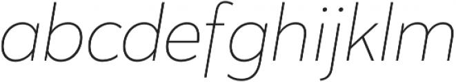 Karu ExtraLight Italic otf (200) Font LOWERCASE